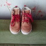 Кожаные ботиночки кеды английского бренда BQZ р.29