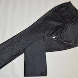 Брендовые женские черные коттоновые джинсы брюки со стразами next гонконг