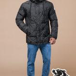 Braggart молодежная зимняя куртка темно серая 25460