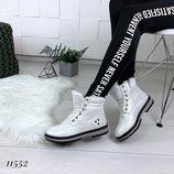 Распродажа Женские зимние белые ботинки на меху