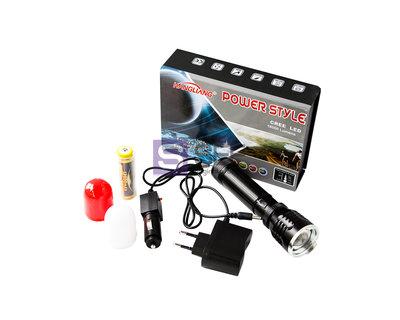 Лучший ручной фонарь 2 аварийные насадки/аккумуляторный фонарик