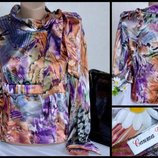 Брендовая атласная блуза santa ukraine