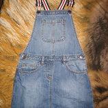 продам моднявый джинсовый сарафан на девочку