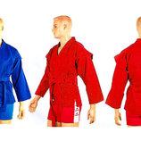 Кимоно для самбо 3211, 2 цвета 140-190см, плотность 500