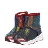 Ботинки для девочки Jong Golf 22, 23, 24, 25, 26, 27 р Бордовый A5156-21 Стильные тёплые угги