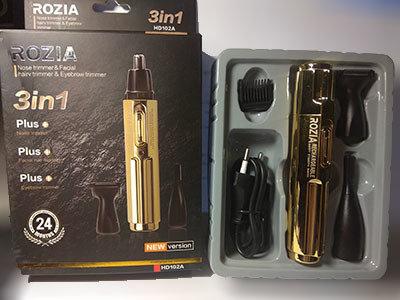 Триммер для, носа и для ушей и бровей Триммер Rozia HD 102 A / 3 насадки /