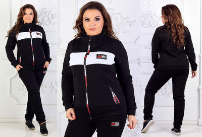 1b8527c04e5e Женский тёплый спортивный костюм на байке в больших размерах Томми в  расцветках.