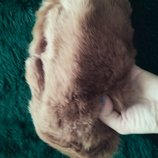 Меховая шапка из кролика