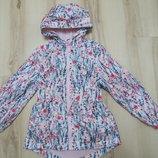 Куртка, ветровка, дождевик, плащ в цветочный принт George 9-10 лет