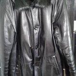 Дублёнка кожаная мужская. Зимняя куртка мужская.