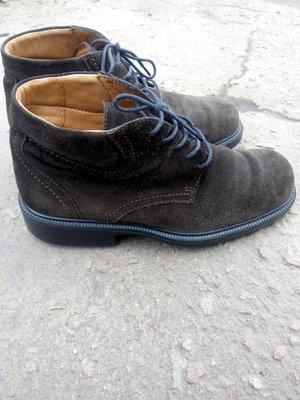 Ботинки Ecco р.42 мужские замша кожа коричневый