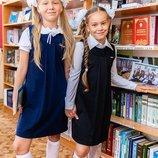 Стильный школьный сарафан для девочки, сарафан в школу