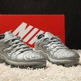 Серые мужские кроссовки nike air max vapormax plus grey 41 42 43 44 45 рр