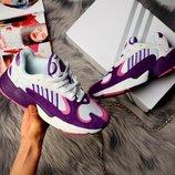 Женские сиреневые кроссовки adidas yung 37 38 39 40 рр