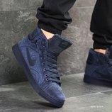 Зимние мужские кроссовки Nike Jordan dark blue