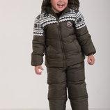 Детский зимний комбинезон для мальчика,76 XAKI 80, 86, 96, 100 см, Хаки
