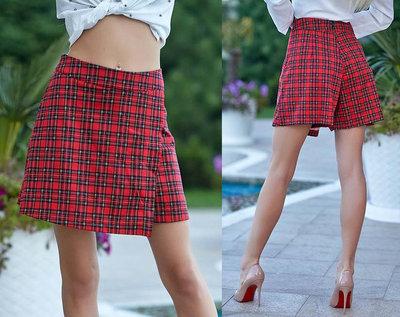 401d8c6c2c3 Продано  Стильная женская юбка-шорты 355 Клетка Запах в расцветках ...