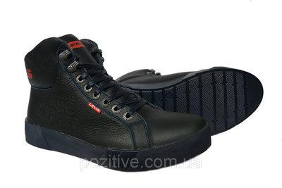 Зимние мужские кожаные ботинки Levisдва цвета