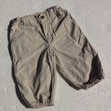 H&M. L.o.g.g. Тонкие штаны на трикотажной подкладке. 74 размер