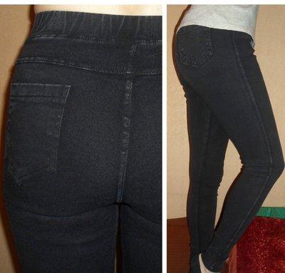 Теплые черные синие джинсы джеггинсы леггинсы на меху и на флисе с 42 по 50р -2 цвета
