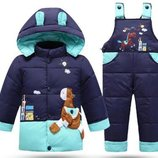 комбинезон раздельный пуховик детский куртка на девочку термо пальто- парка- зимняя комбинезон