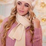Комплект берет и шарф 12 расцветок качество супер