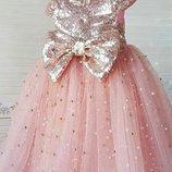 Пышное нарядное выпускное детское платье