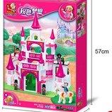 Конструктор Sluban 0151 Розовая мечта Замок Принцесы 508 деталей