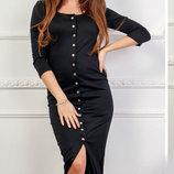 Длинное приталеное платье французский трикотаж скл.1 арт.46836