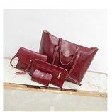 Набор сумка большая сумочка кошелек визитница