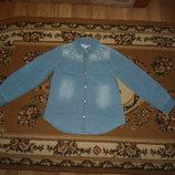 Джинсовая рубашка M&S на 6-7 років