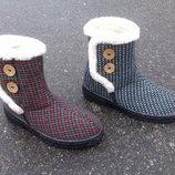 Женские зимние дутики угги сапоги, ботинки, бурки