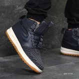 Зимние мужские Nike Lunar Force 1 Duckboot dark blue