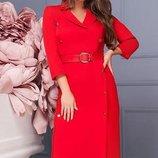 Красивое Платье миди креп-костюмная ткань скл.1 арт.46795