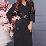 Красивое Платье миди креп-костюмная ткань скл.1 арт.46794