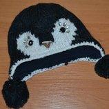 Шапка 42-46 см, шапка детская, шапка, зимняя шапка, шапка на флисе, зимняя шапка с бубонами