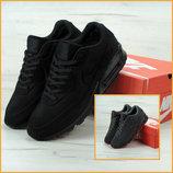 Зимние мужские кроссовки Nike Air Max 90VT FUR. Замша натуральная. Выбор цвета.