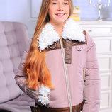 Зимняя куртка для девочек рост 140-158 см
