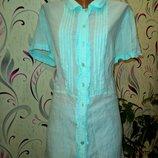 Платье рубашка небесно голубого цвета рр 16 M&Co