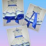 Украинское нарядное пышное детское платье