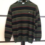 LACOSTE оригинал стильный мужской шерстяной свитер в полоску XXL