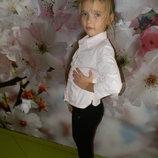 рубашка Za girls на девочку 7-8 лет отл. сост. обмен