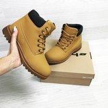 Timberland ботинки женские зимние рыжие 6625