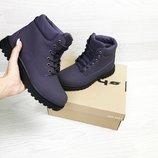 Timberland ботинки женские зимние фиолетовые 6627