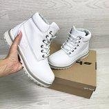 Timberland ботинки женские зимние белые 6629