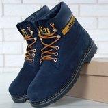 Зимние мужские ботинки Caterpillar Colorado Fur Blue