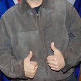Стильная кожаная замшевая курточка бренд genuine дженуин италия .хл-2хл .