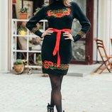 Вязанное платье 2 цвета 44-47-48-50-52 размеры
