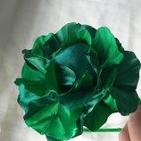 Обруч Капуста зеленая, салатовая из атласных лент, костюм, заколка