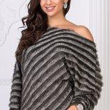 Теплый свитер турецкая ангора- травка размеры 42-56 скл.1 арт.46078